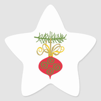 ORNAMENT ON BRANCH STAR STICKERS