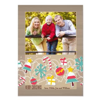 Ornament Parade Holiday Photo Card