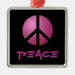 Ornament, Peace, Pink