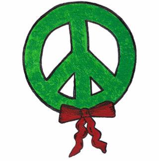 Ornament -Peace  Wreath Acrylic Cut Out