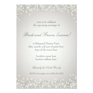 Ornament & Pearls | Wedding Rehearsal Dinner Card