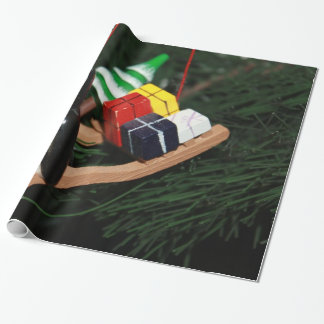 Ornament - Penguin & Christmas Sled Wrapping Paper