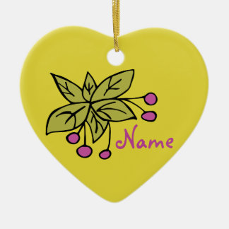 Ornament personalised decoration 'Berries - Leaves