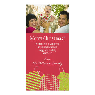 Ornament Photo Greeting Photo Card Template