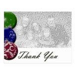 Ornament Photo Template Thank you Postcard