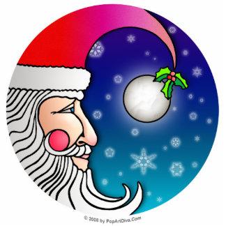 Ornament, Pin, Sculpture - Santa Moon
