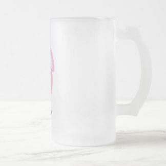 ornament pink  hat copy frosted glass beer mug