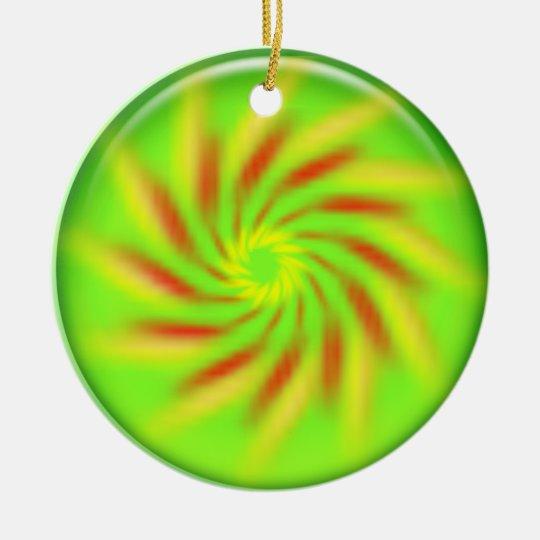 Ornament - Pinwheel inside 3d green ball