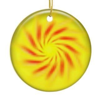 Ornament - Pinwheel inside 3d yellow ball