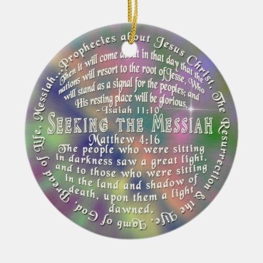 ORNAMENT Prophecy Jesus  ISAIAH 11:10 Matthew 4:16