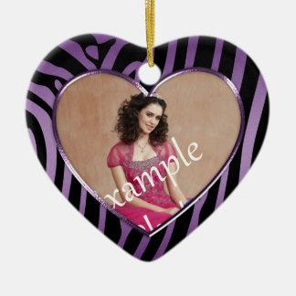 Ornament Purple Black Zebra Sweet 16