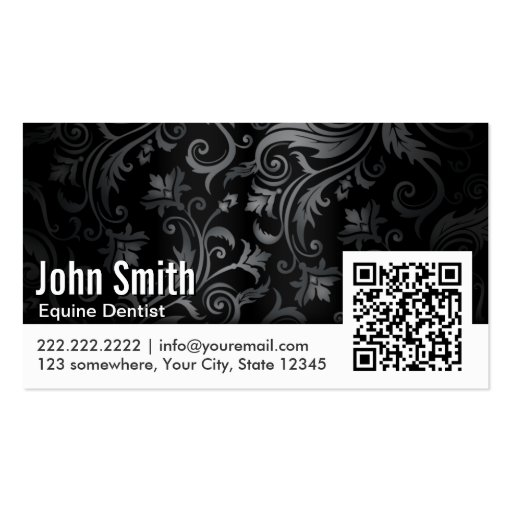 Ornament QR Code Equine Dentist Business Card
