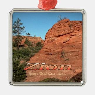 Ornament: Red Rock In Zion (Premium Square)