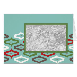 ornament retro photo template greeting card