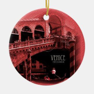 Ornament - Rialto Bridge Coral Tint