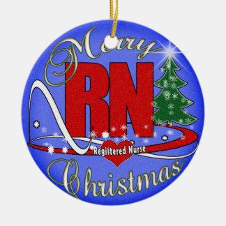 ORNAMENT - RN NURSE - MERRY CHRISTMAS