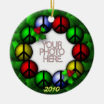 Ornament Round Template Photo Peace Wreath
