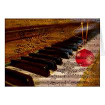 ornament rustic collage piano teacher Cards