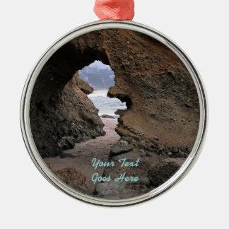 Ornament: Sandstone Keyhole (Premium Round) Metal Ornament
