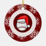 Ornament - Santa Baseball