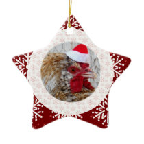 Ornament - Santa Rooster