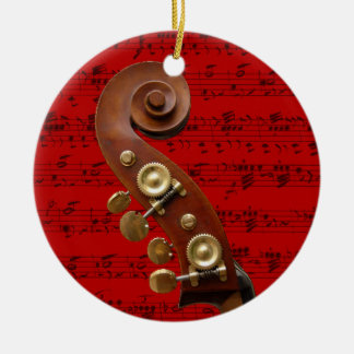 Ornament - Scroll with music - Pick your color