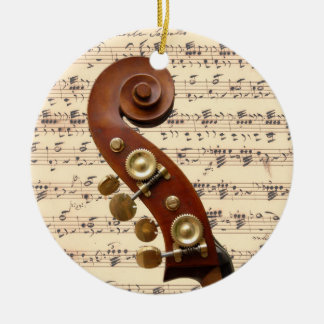 Ornament - Scroll with sheet music