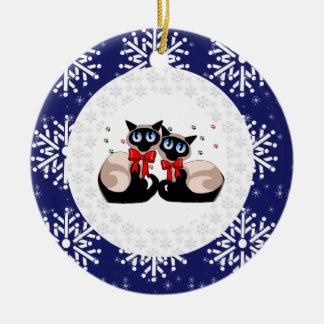 Ornament - Siamese Christmas Cats