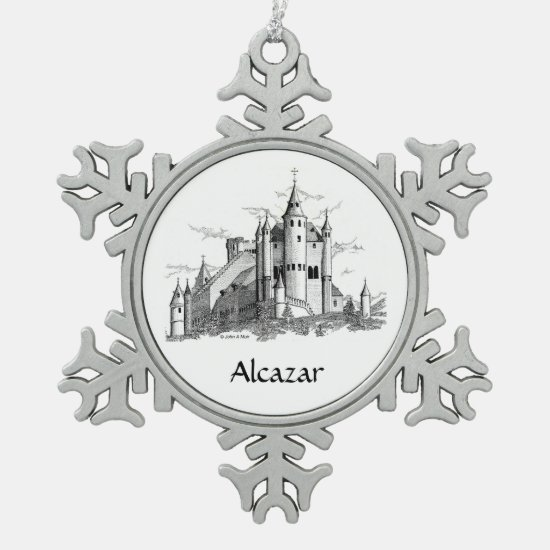 Ornament - Snowflake - Alcazar - castle