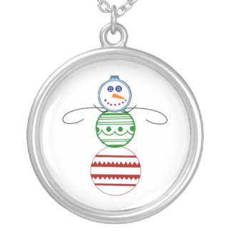 Ornament Snowman Necklace