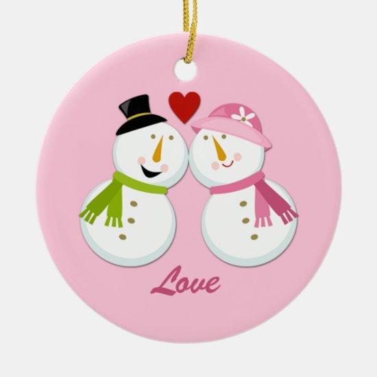 Ornament Snowman Snowlady 1st Christmas