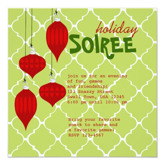 Ornament Soiree Card