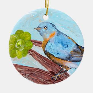 Ornament: Songbird Ceramic Ornament