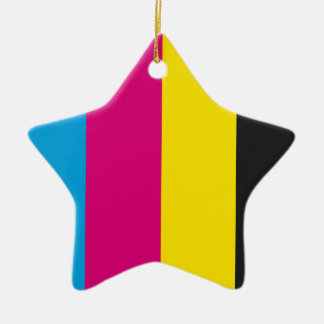 Ornament star CMYK stripes
