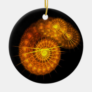 Ornament-Sunrise Zest and Golden Spikes Ceramic Ornament