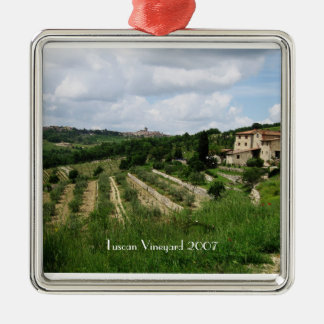 Ornament - Tuscan Vineyard and Hill Town
