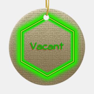 Ornament - Vacancy sign (linen)