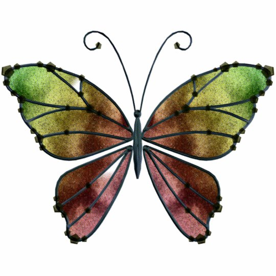 ORNAMENT Warm Shades Rainbow Wings Butterfly
