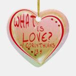 ORNAMENT - WHAT IS LOVE? CORINTHIANS 13:4 BIBLE