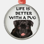ornament with black pug