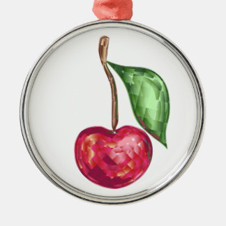 Ornament  with crystal cherry