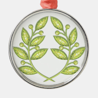 Ornament with crystal laurel wreath