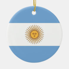 Ornament With Flag Of Argentina at Zazzle