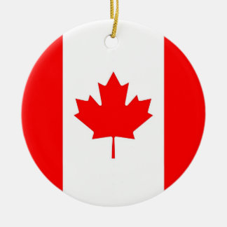 Ornament with flag of Canada