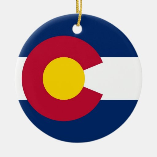 Ornament with flag of Colorado