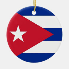 Ornament With Flag Of Cuba at Zazzle