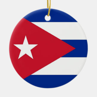 Ornament with flag of Cuba