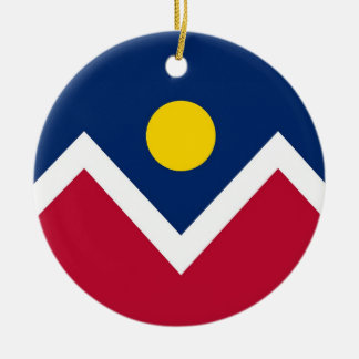 Ornament with flag of Denver, Colorado