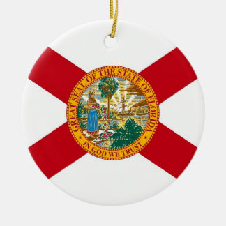 Ornament with flag of Florida