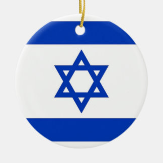 Ornament with flag of Israel